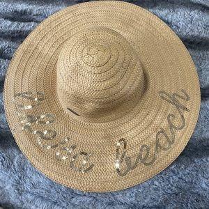 """life is a beach"" Beach Straw Hat"